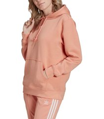 adidas originals adidias essentials fleece hoodie, size x-small in ambient blush at nordstrom