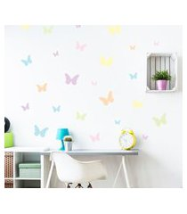adesivo de parede borboletas aquarela 25un cobre 1,5m²