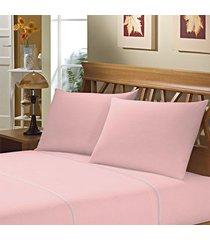 fronha avulsa camesa rosa 150 fios 50cm x 70cm - multicolorido - dafiti