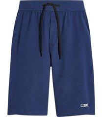 msx by michael strahan modern fit fleece knit shorts blue heather