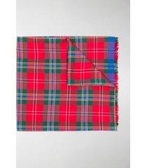alexander mcqueen check pattern scarf