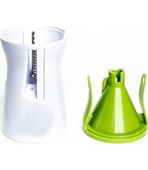 cortador de legumes em espiral contãnuo ou fatiado 3 em 1 - ralador, fatiador e cortador - branco - dafiti