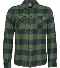 overhemd lange mouw dickies new sacramento shirt pine green
