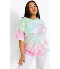 plus oversized tie dye t-shirt, blue