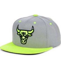 mitchell & ness chicago bulls volt snapback cap