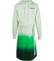 ambush gradient long hoodie - green