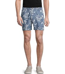 leaf-print shorts