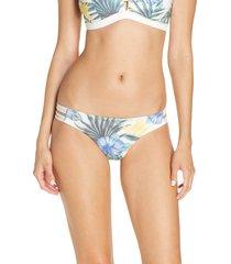 women's hurley max lanai mod surf bikini bottoms, size x-large - ivory