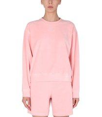 t by alexander wang crew neck soft velor sweatshirt