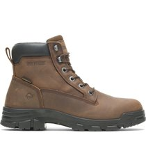 "wolverine men's chainhand waterproof 6"" boot brown, size 11 extra wide width"