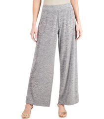 jm collection spacedyed knit wide-leg pants, created for macy's