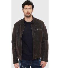 chaqueta ellus marrón - calce regular
