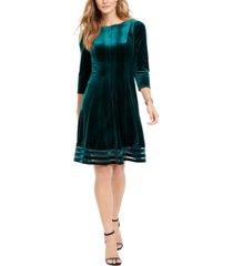jessica howard petite velvet illusion dress