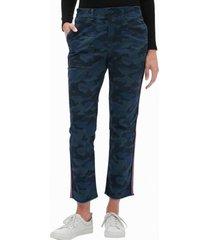 pantalon girlfriend khaki camuflado azul gap