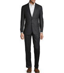 2-piece classic fit striped virgin wool blend suit