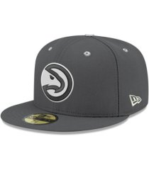 new era atlanta hawks storm black white logo 59fifty cap