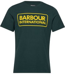 b.intl essential large logo tee t-shirts short-sleeved grön barbour
