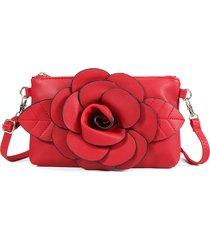 clutch casual a tracolla per donna borsa tracolla a fiore in pelle pu borsa borsa