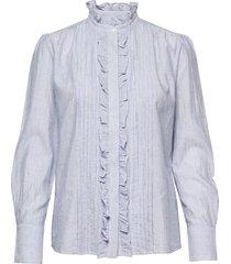 nicolas blouse lange mouwen blauw vanessa bruno