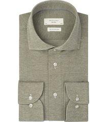knitted overhemd profuomo pique mercerised groen
