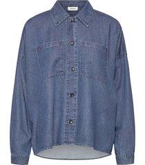 fever shirt långärmad skjorta blå modström