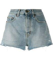 raw slim fit denim shorts