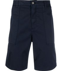 brunello cucinelli bermuda cotton shorts - blue