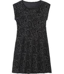 intarsia jurk kort, zwart 40