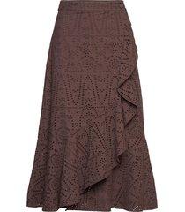 2nd francine thinktwice skirts wrap skirts brun 2ndday