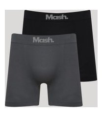 kit de 2 cuecas masculinas mash sem costura multicor