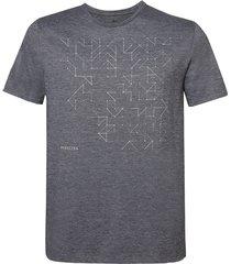 camiseta dudalina manga curta decote careca deconstruction masculina (cinza mescla claro, gg)