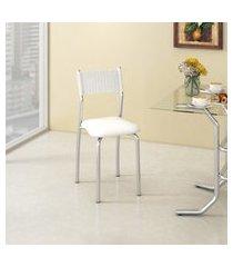 cadeira para cozinha mônaco compoarte c142 aço carbono