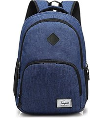 mochila para hombre, nuevo hombre mujer mochilas carga-azul