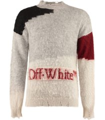 off-white mohair blend sweater