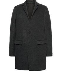 manor coat wollen jas lange jas grijs allsaints