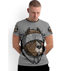 camiseta stompy new collection chicano dog cinza - kanui