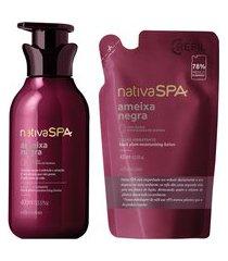 combo nativa spa ameixa negra: loção hidratante desodorante + refil
