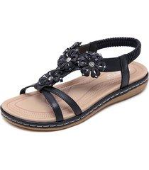 sandalias de las mujeres pisos de diamantes de imitación