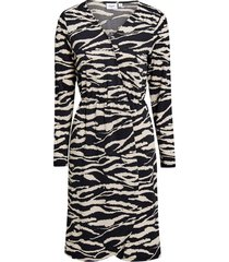 klänning tiger jersey wrap dress