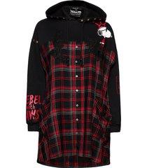 cam weser hoodie trui zwart desigual