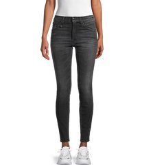 r13 women's high-rise jeans - dirty black - size 24 (0)