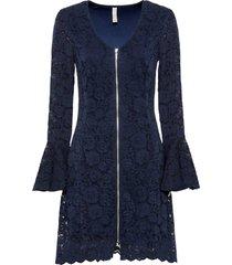 abito in pizzo a fiori (blu) - bodyflirt boutique