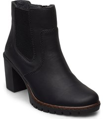 y2574-00 shoes boots ankle boots ankle boots with heel svart rieker