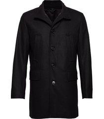 kali-compact melton wollen jas lange jas zwart j. lindeberg