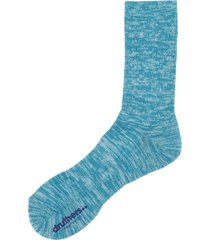 men's druthers everyday organic cotton blend crew socks, size one size - blue