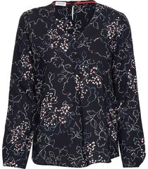 blouse long-sleeve blus långärmad blå gerry weber