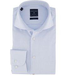 mouwlengte 7 overhemd profuomo lichtblauw slim fit