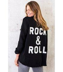 rock n roll jacket zwart