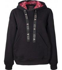 bluza black hoodie