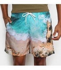 shorts mash estampado paisagem masculino